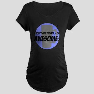 DRAWBlueGray Maternity Dark T-Shirt