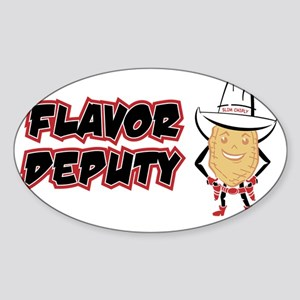 SlimChiply_FlavOnTop Sticker (Oval)