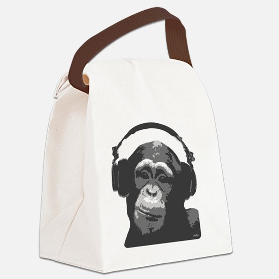 DJ MONKEY light grey Canvas Lunch Bag