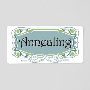 annealing Blue on black Aluminum License Plate