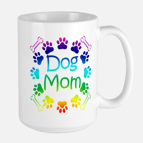 """""""Dog Mom"""" Large Mug"""