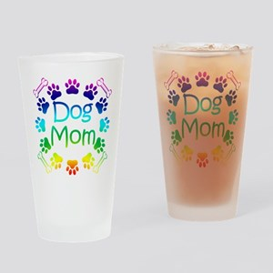 """Dog Mom"" Drinking Glass"
