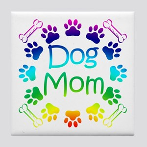 """Dog Mom"" Tile Coaster"