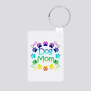 """Dog Mom"" Aluminum Photo Keychain"