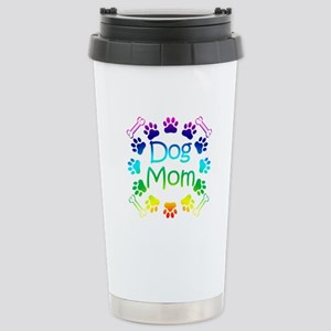 """Dog Mom"" Stainless Steel Travel Mug"