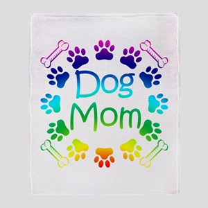 """Dog Mom"" Throw Blanket"