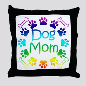 """Dog Mom"" Throw Pillow"