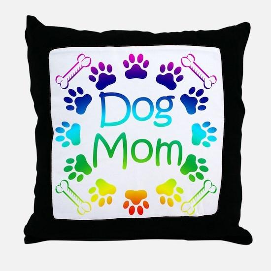 """Dog Mom"" Throw Pillow"