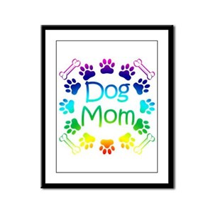 """Dog Mom"" Framed Panel Print"