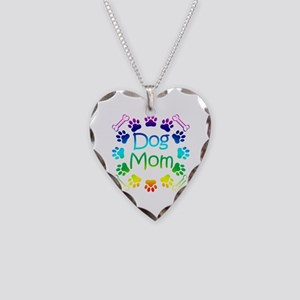 """Dog Mom"" Necklace Heart Charm"