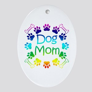 """Dog Mom"" Ornament (Oval)"