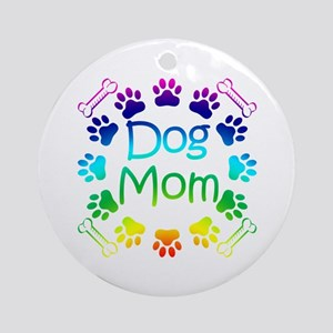 """Dog Mom"" Ornament (Round)"