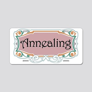 annealing pink on black Aluminum License Plate