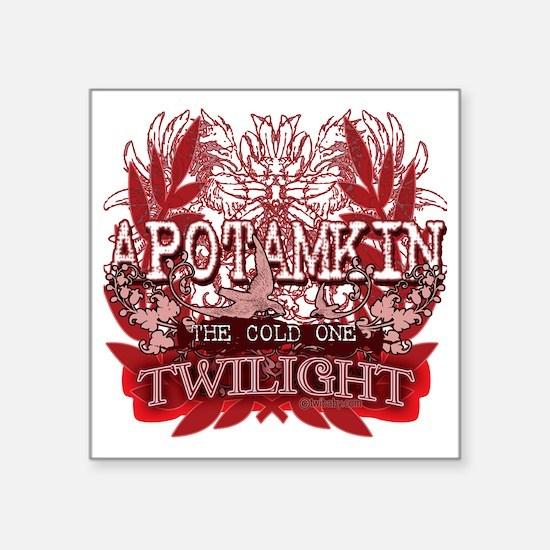 "Twilight Apotamkin Red Square Sticker 3"" x 3"""