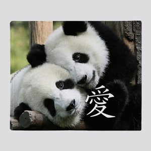 Chinese Love Little Pandas Throw Blanket