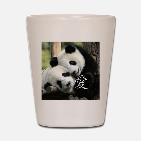 Chinese Love Little Pandas Shot Glass