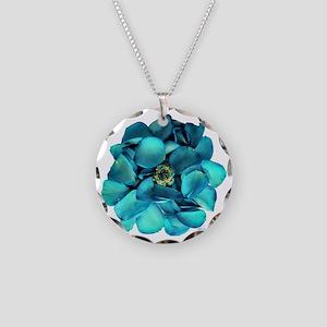 Sapphire_Petal_Posy Necklace Circle Charm