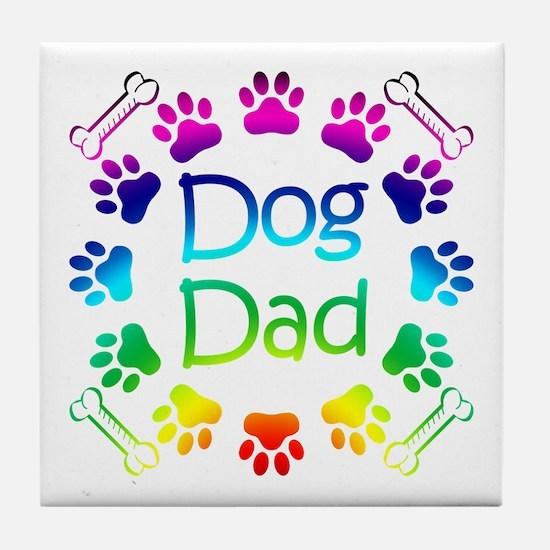 """""""Dog Dad"""" Tile Coaster"""