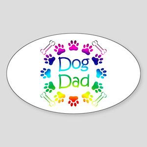 """Dog Dad"" Sticker (Oval)"