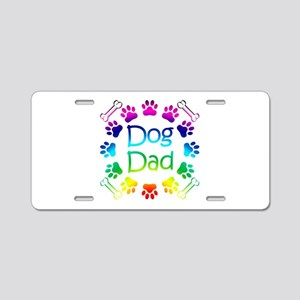 """Dog Dad"" Aluminum License Plate"