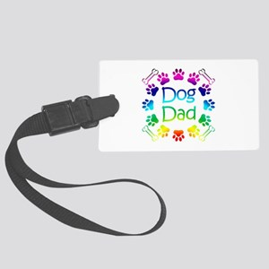 """""""Dog Dad"""" Large Luggage Tag"""