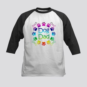 """Dog Dad"" Kids Baseball Jersey"