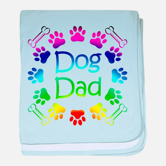 """Dog Dad"" baby blanket"