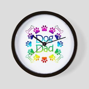 """""""Dog Dad"""" Wall Clock"""