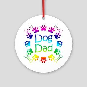 """Dog Dad"" Ornament (Round)"