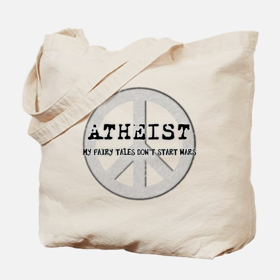 10x10_apparel_atheistpeace_white Tote Bag