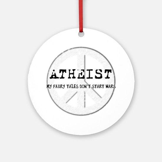 10x10_apparel_atheistpeace_white Round Ornament