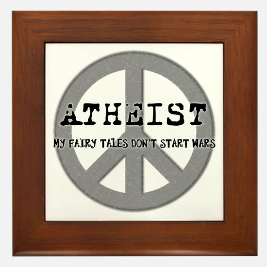 10x10_apparel_atheistpeace copy Framed Tile