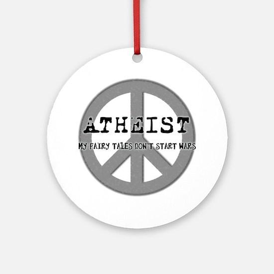 10x10_apparel_atheistpeace copy Round Ornament