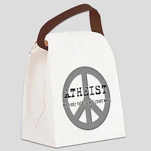 10x10_apparel_atheistpeace copy Canvas Lunch Bag