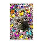 Emma Gray Tabby in Butterflies Mini Poster Print