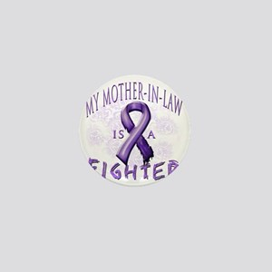 My Mother-In-Law Is A Fighter Purple Mini Button