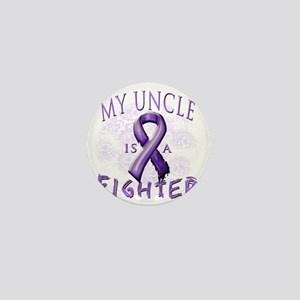 My Uncle Is A Fighter Purple Mini Button