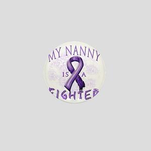 My Nanny Is A Fighter Purple Mini Button