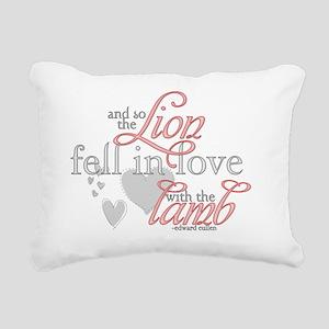 FMH-lionlamb1 Rectangular Canvas Pillow