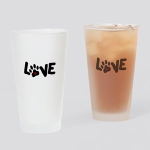 Love (Pets) Drinking Glass