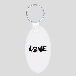 Love (Pets) Aluminum Oval Keychain