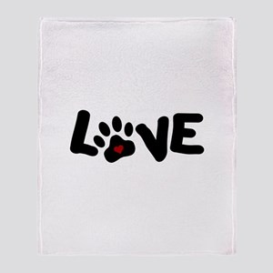 Love (Pets) Throw Blanket