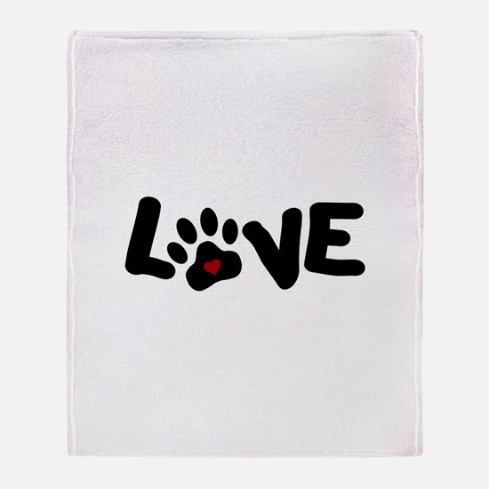 Love (Pets) Throw Blanket