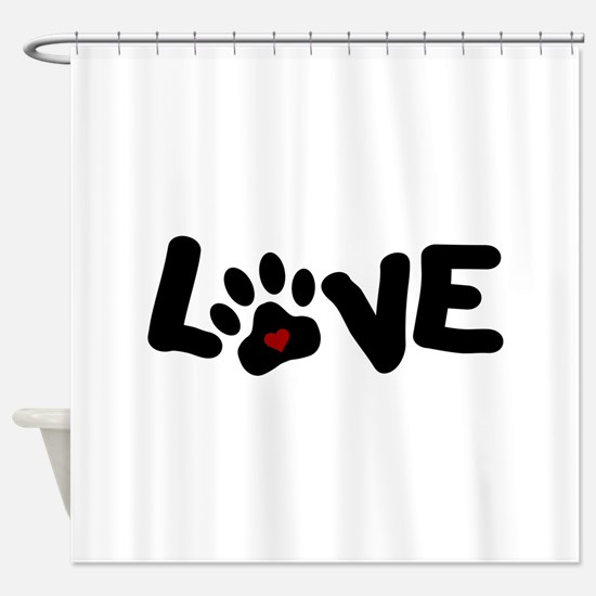 Love (Pets) Shower Curtain