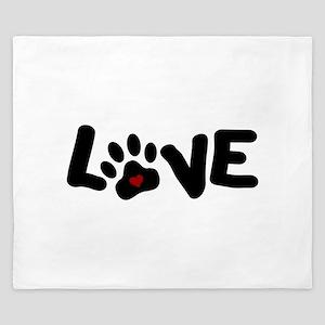 Love (Pets) King Duvet