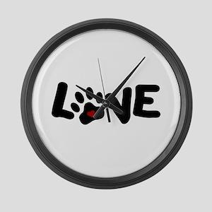 Love (Pets) Large Wall Clock