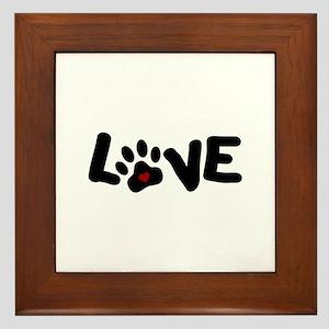 Love (Pets) Framed Tile