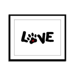 Love (Pets) Framed Panel Print