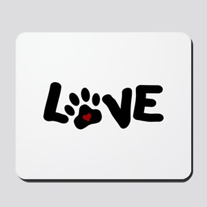 Love (Pets) Mousepad