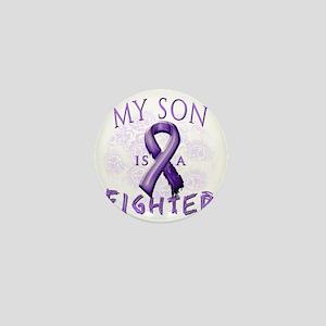 My Son Is A Fighter Purple Mini Button